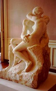 The Kiss in marble in the Musée Rodin